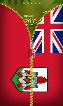 Bermuda Flag Zipper Lockscreen poster