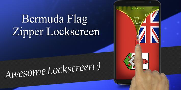 Bermuda Flag Zipper Lockscreen apk screenshot