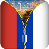 Russia Flag Zipper Lockscreen icon