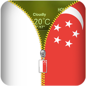 Singapore Flag Zipper Locker icon