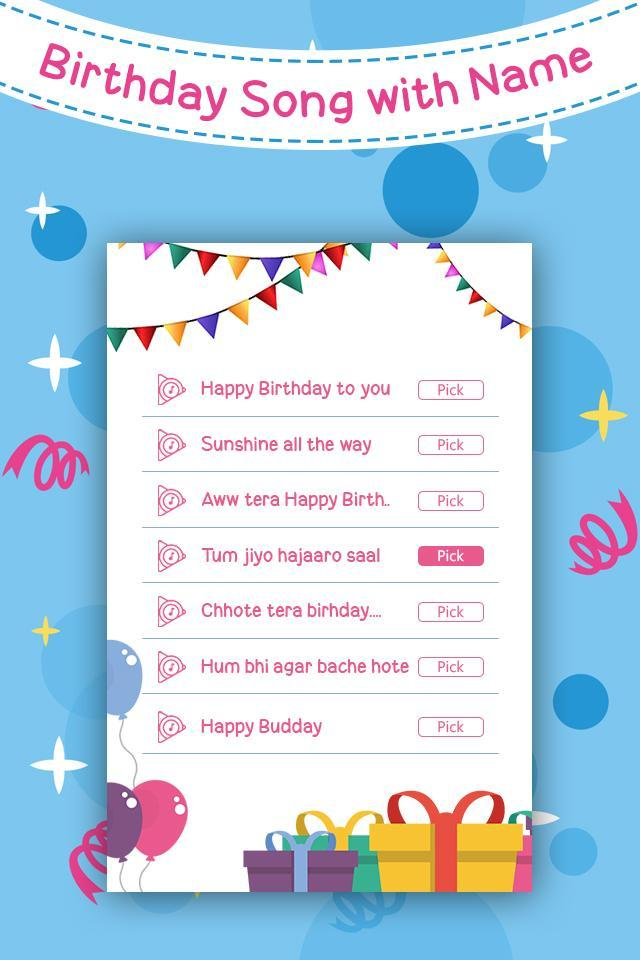 Birthday Song With Name Unique B Day Wish For Android Apk Download