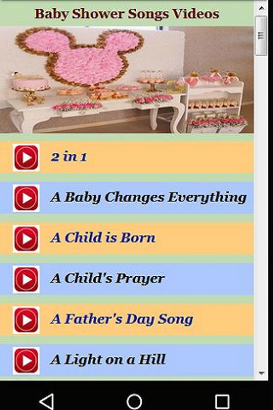 Baby Shower Songs Videos For Android Apk Download