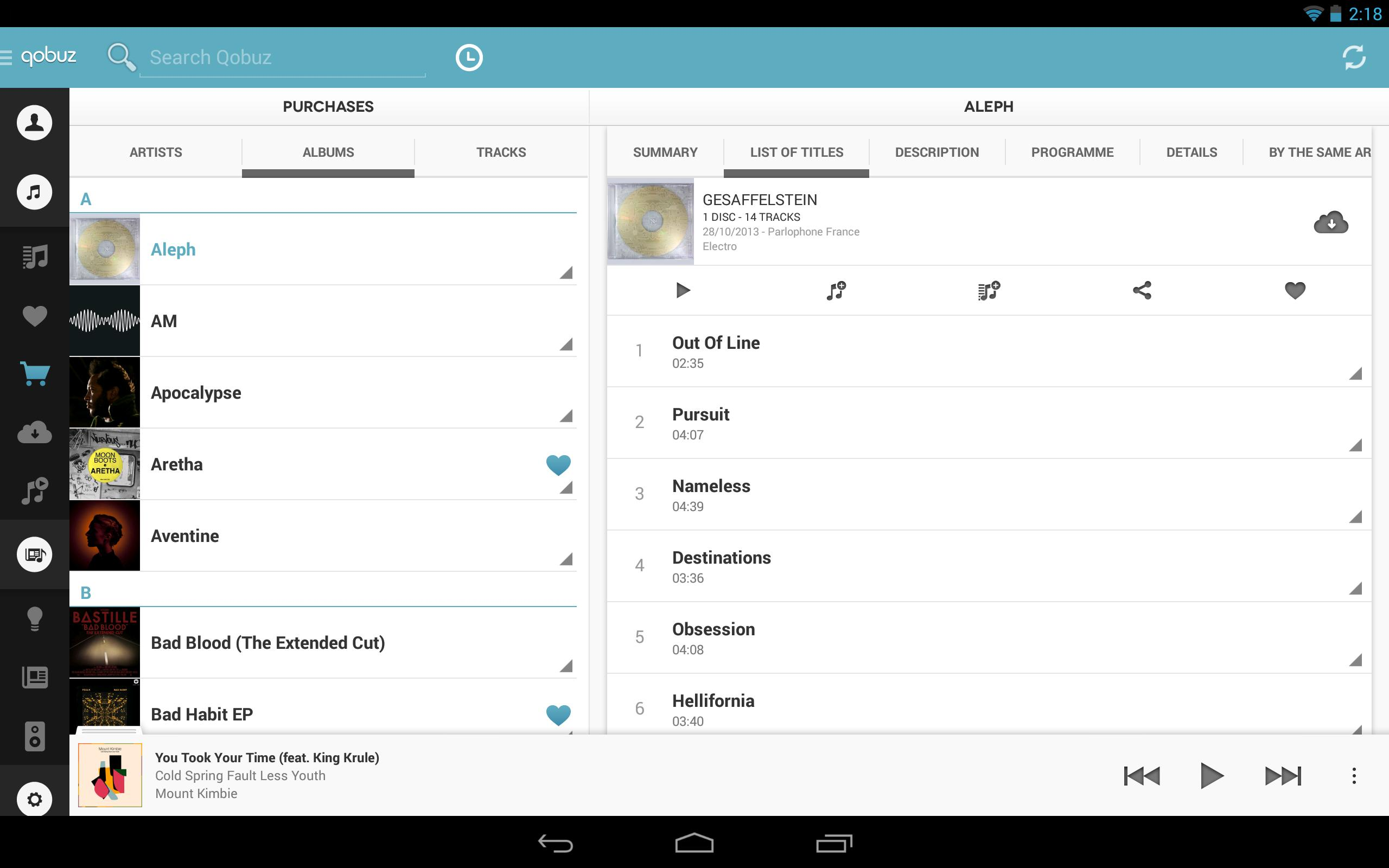 Qobuz for Android 2 2 for Android - APK Download