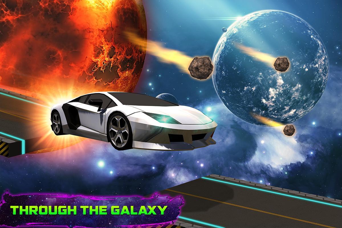 Amazing Car Driving Simulator Space Tracks For Android Apk