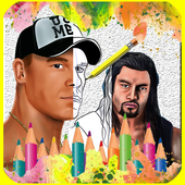 How To draw WWE icon