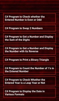 C# Programs Workout New screenshot 1