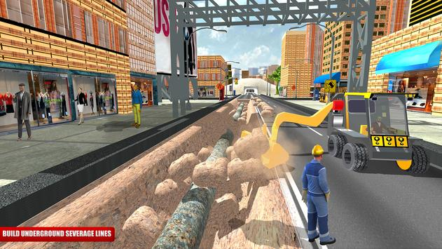 City Road Construction Sim 2018 screenshot 1
