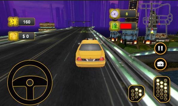 Taxi Car Driving 3D poster