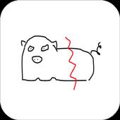 漂浮塗鴉 - 聊天時畫個塗鴨訊息吧 icon