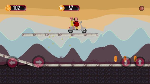 Motu patlu motobike game apk screenshot