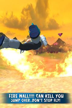3D Super Blue Man Fly apk screenshot