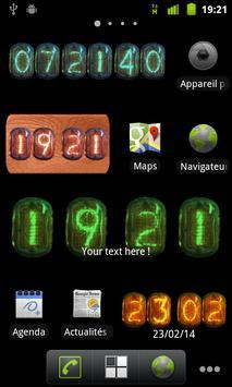 Nixie Clock Widget apk screenshot