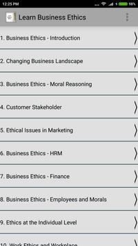 Learn Business Ethics poster