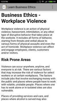 Learn Business Ethics apk screenshot