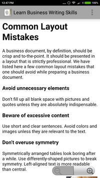Learn Business Writing Skills screenshot 2
