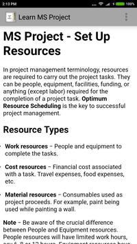Learn MS Project screenshot 3
