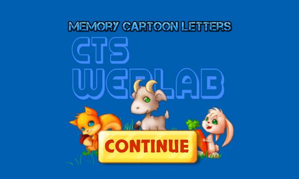Memory Cartoon letters poster