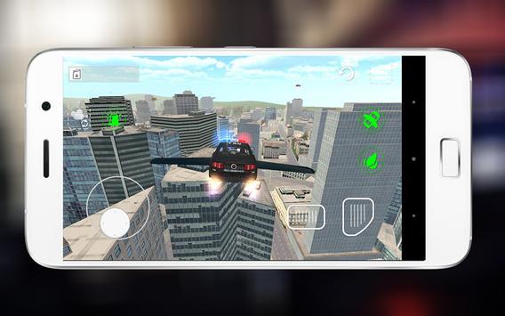 🚔Flying Police Car Sim 3D Pro apk screenshot
