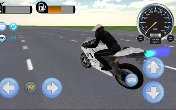 🏍️Police Motorbike Rider 3D! screenshot 5
