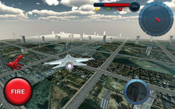 Jet Plane Fighter 3D City War apk screenshot