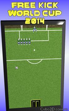 FREE KICK  WORLD CUP 2014 poster