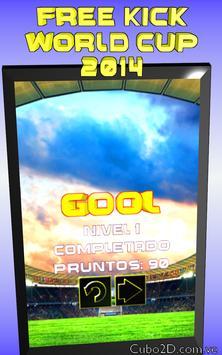 FREE KICK  WORLD CUP 2014 screenshot 1