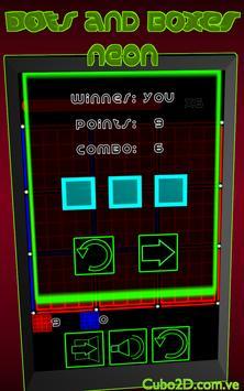 Dots and Boxes (Neon) apk screenshot