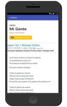Mi Gente - J Balvin Song apk screenshot