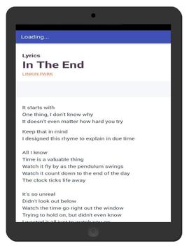 Linkin Park Song and Lyrics - In The End apk screenshot