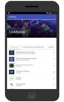 Coldplay - Something Just Like This apk screenshot