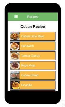 Instant Cubans Recipes apk screenshot