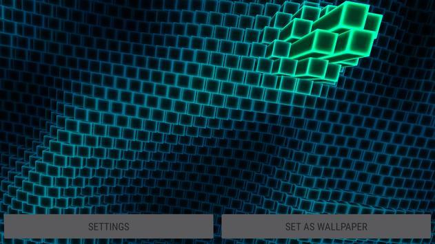 Neon Cube Cells 3D Live Wallpaper Screenshot 10