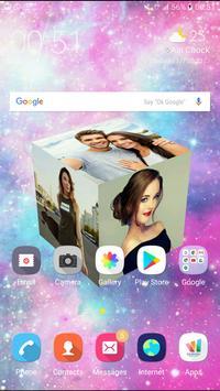 3D Photo Cube Live Wallpaper - 3D Pic Cube Live poster