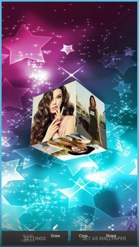 3D Photo Cube Live Wallpaper - 3D Pic Cube Live screenshot 1
