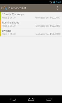 Wish list: Shopping buddy apk screenshot