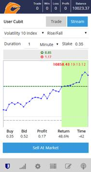 Cubit - Custom Binary Trading apk screenshot