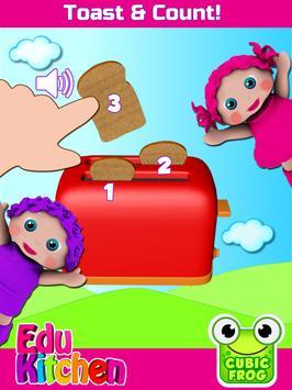 Toddler Kitchen Food Cooking Games-EduKitchen Girl apk screenshot