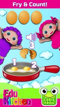 Toddler Kitchen Food Cooking Games-EduKitchen Girl poster