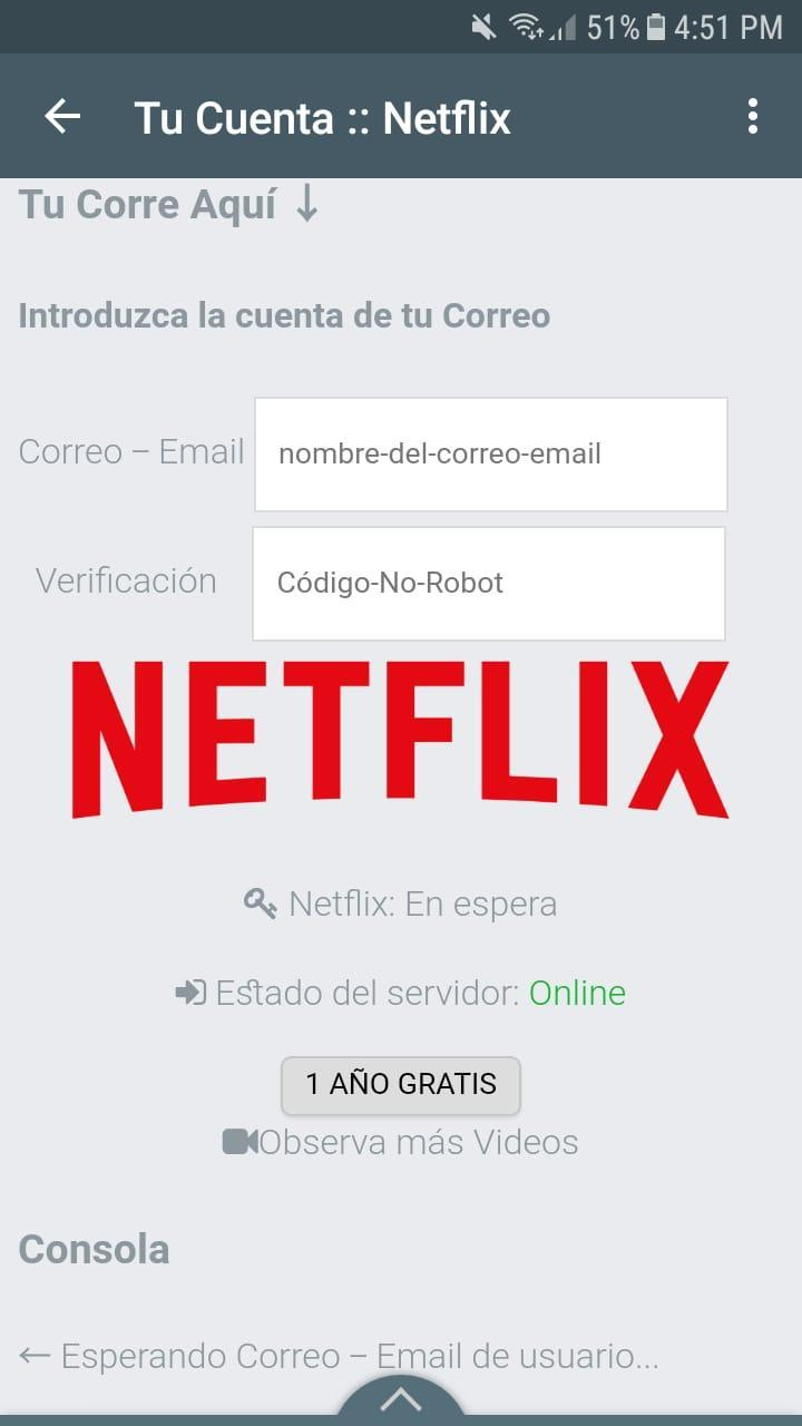 Cuentas De Netflix Gratis For Android Apk Download