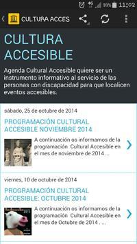 Cultura Accesible apk screenshot