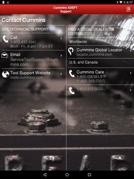 Cummins ADEPT Support apk screenshot