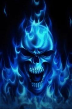 Blue Skull Live Wallpaper Poster