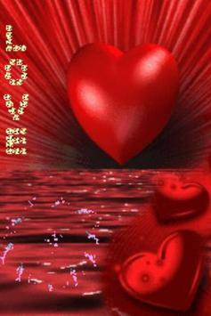 Red Heart On Red Sea Live Wall poster