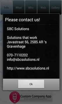 SBC Solutions App screenshot 2