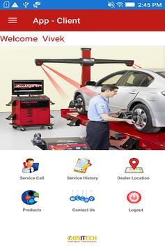 Equipment Service App - Client poster