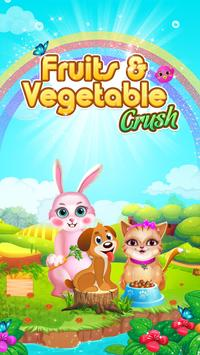 Fruits and Vegetable Crush: Rescue Pet Puzzle Game poster