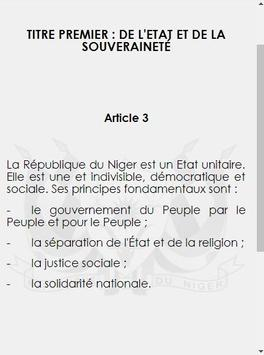 Niger Constitution 2010 screenshot 4