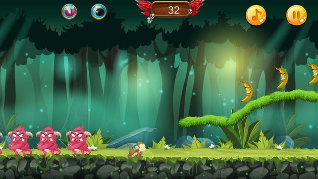 Curious jungle Banana Monkey kong Run screenshot 1