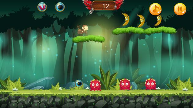 Curious jungle Banana Monkey kong Run screenshot 4