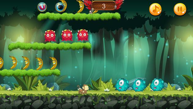 Curious jungle Banana Monkey kong Run screenshot 6